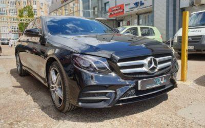 Mercedes E200 — легкая полировка кузова и нанесение керамического состава