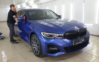 BMW 320D — шумоизоляция арок, полировка, защитный состав, антидождь, тонировка и бронирование