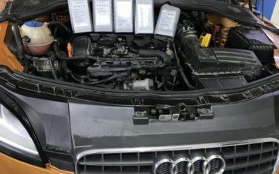 Замена трансмиссионного масла в коробке автомобиля Audi TT