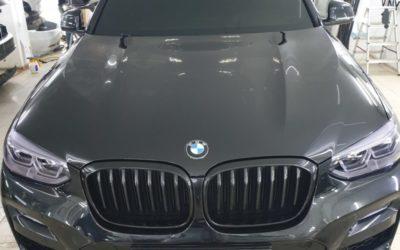 BMW X4 — антихром ноздрей, тонировка оптики, тонировка лобового и передних боковых