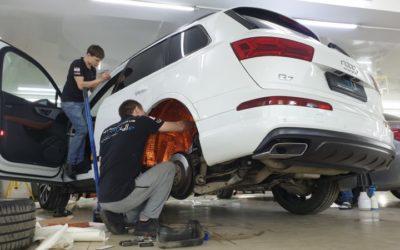Шумоизоляция и виброизоляция автомобиля Audi Q7