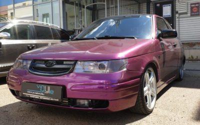 ВАЗ 2112 — оклейка автомобиля фиолетовой пленкой Teckwrap