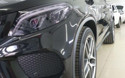 Mercedes GLE Coupe — полировка кузова, керамика 4 слоя, бронирование кузова и фар, антихром, химчистка