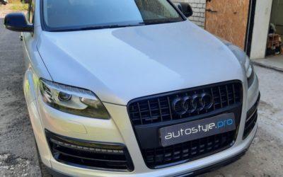 Audi Q7 — полный антихром, замена тормозных дисков и накладок, покраска суппортов, бамперов, полировка, химчистка, мойка днища и двигателя