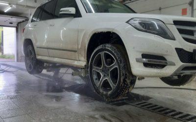 Правильная мойка днища и арок — Mercedes GLK