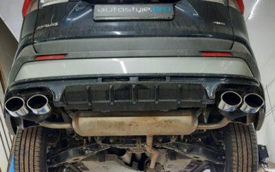 Новенькая Toyota RAV4 — установка насадок MG-Race на выхлоп