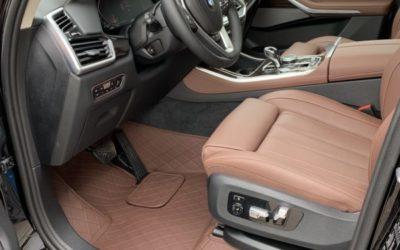 Пошив 3D ковров по индивидуальному заказу, обработка сидений керамическим составом — BMW X5