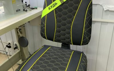 Преобразили офисное кресло — натуральная кожа и итальянская Алькантара