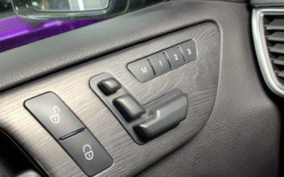 Аквапринт на детали интерьера Mercedes GL 400, 3D темный орех на серебряной базе
