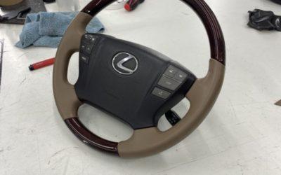 Lexus LX 570 — замена ремней безопасности и перетяжка руля в натуральную кожу