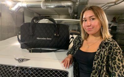 Пошив сумки по индивидуальному заказу клиента на Mercedes Benz