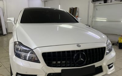 Тонировка стекол автомобиля Mercedes CLS пленкой UltraVision