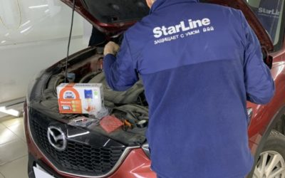 Установили автосигнализацию СтарЛайн А93 на Mazda CX-5