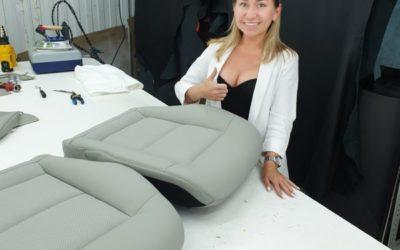 Перетянули нижние части сидений переднего ряда под оригинал — Mercedes E — класса