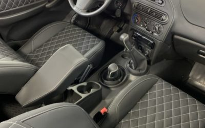 Chevrolet Niva — перетяжка салона в экокожу, перетяжка потолка, покраска пластика в салоне, шумоизоляция и полировка