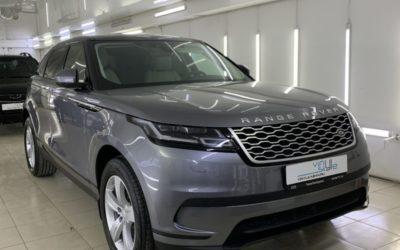 Range Rover Velar — бронирование полиуретановой пленкой кузова, нанесение керамики в 3 слоя, тонировка Llumar