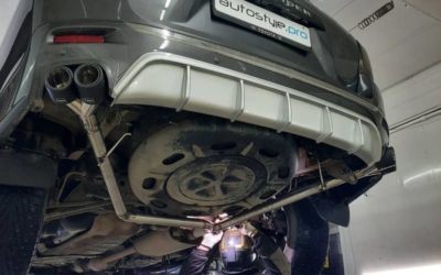 Toyota Highlander — раздвоение выхлопа, установили насадки, покрасили суппорта