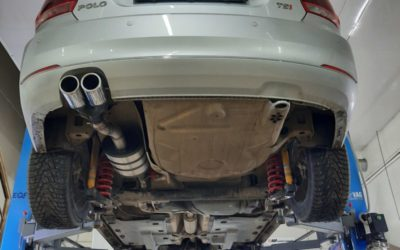 Volkswagen Polo — изготовили выхлопную трассу от Downpipe до насадок на комплектующих MG-RACE