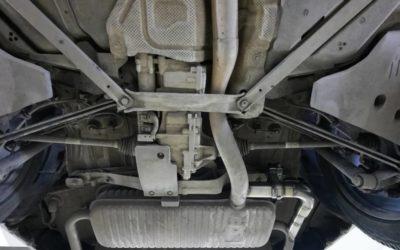 BMW X1 — доработка выхлопной системы, установка заслонок и насадок