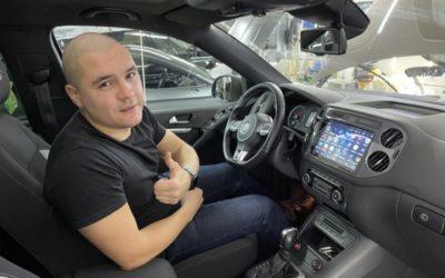 Произвели замену штатного головного устройства на мультимедиа на базе Андроид 10 — Volkswagen Tiguan
