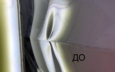 Volkswagen Jetta — ремонт вмятин на задней левой двери, полировка кузова