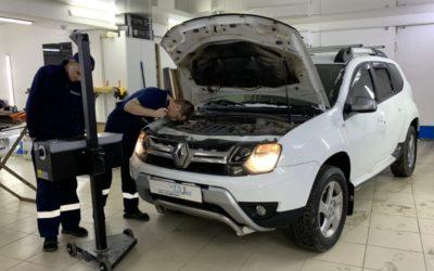 Регулировка фар на Renault Duster