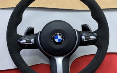 Перешив руля BMW X5M с обогревом в алькантару