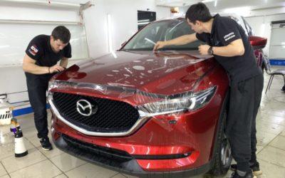 Mazda CX-5 — установили охранный комплекс 6-го поколения StarLine S96 с модулем GSM, функцией Bluetooth Smart и умным автозапуском, бронирование кузова