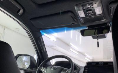 Land Cruiser Prado — перетяжка потолка, покраска пластика, бронирование зеркал, фар и под ручками