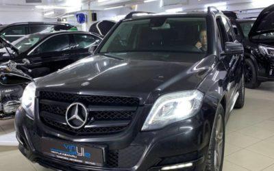 Mercedes GLK 300 — заменили штатные ксеноновые адаптивные линзы на светодиодные bi-led модули Aozoom A3+