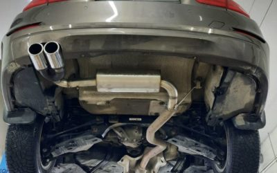BMW 320i — замена стоковой банки и установка двойной декоративной насадки