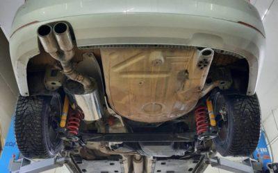 VW Polo — заменили банку глушителя, установили электронную заслонку