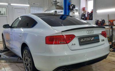 AUDI A5 — чип Stage 2 от AGP Motorsport, замена стоковых глушителей, изменение звучания автомобиля