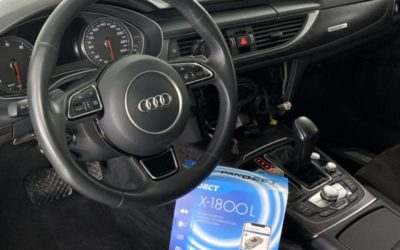 Audi A6 — установили охранный комплекс Pandect X-1800L