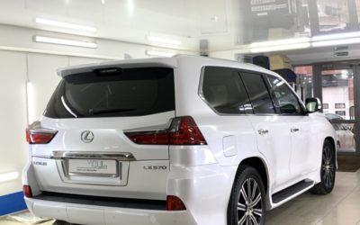 Бронирование зон рисков и нанесение керамики на автомобиль Lexus LX 570