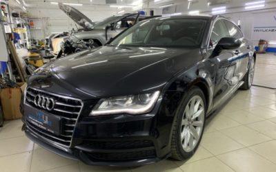 Audi A7 — установили топовый охранный комплекс StarLine S96 — управление с телефона