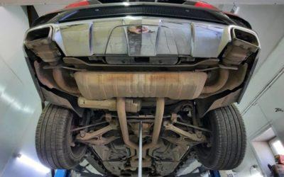 Mercedes GL 500 — изменили геометрию выхлопной системы, установили электронные заслонки