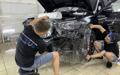 Бронирование части кузова автомобиля Mercedes GLS 450 полиуретановой пленкой