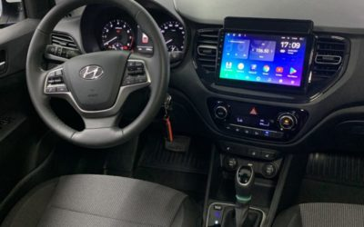 Hyundai Solaris — бронирование кузова, оклейка крыши, StarLine E96, мультимедиа Android,  bi-led модули Aozoom A3 Max