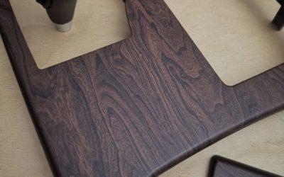 Аквапринт для Lexus GS 450 — текстура коричневое матовое дерево