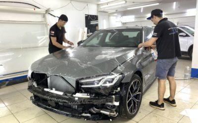 BMW 530D — бронирование зон риска и задних фонарей полиуретановой плёнкой Llumar, бронирование лобового стекла
