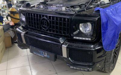 Установка откидных рамок на автомобиль Mercedes-Benz G-Класс