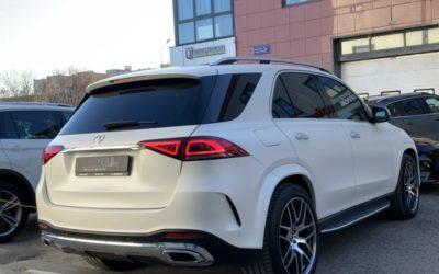 Mercedes GLE 450 — бронирование кузова полиуретановой пленкой, замена решетки радиатора