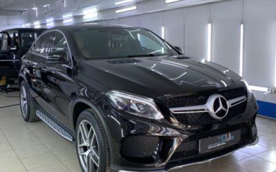 Mercedes GLE 350 — полировка кузова с нанесением керамики