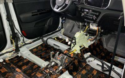 Kia Sportage — шумоизоляция всего салона автомобиля