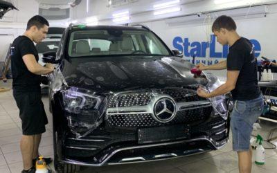 Mercedes GLE 300D — бронирование зон риска полиуретановой плёнкой