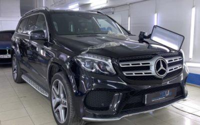Mercedes GLS 350 — мастерское выпрямление вмятины без покраски