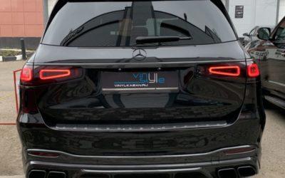 Mercedes GLS — бронирование кузова и выполнили антихром, ламинирование карбоном