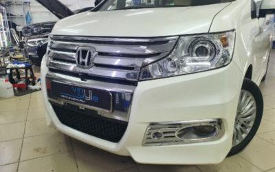 Honda Step WGN Spada — установили светодиодные модули Aozoom A3 max