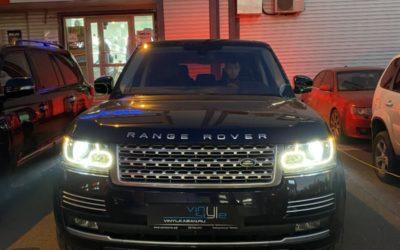 Range Rover Vogue 2018 года — установили bi-led модули Aozoom A3 max и забронировали фар